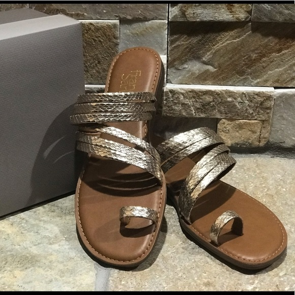 Franco Sarto Shoes - NEW with box, Franco Sarto, gold leather sandals